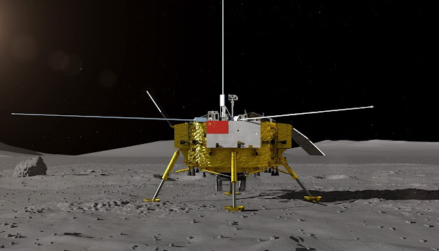 Image Attribute: An artist's rendition of Chang'e-4 Lander / Source: CSNA/CGTN