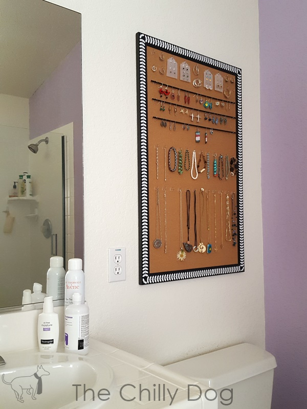 DIY Cork Board Jewelry Organizer The Chilly Dog
