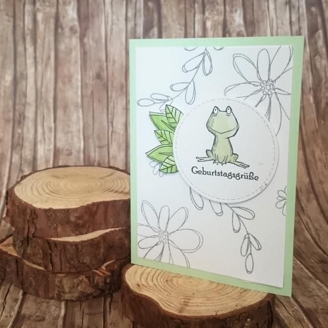 DIY] Froschiger Geburstag Grußkarte mit Frosch  Frogs-Birthdaycard