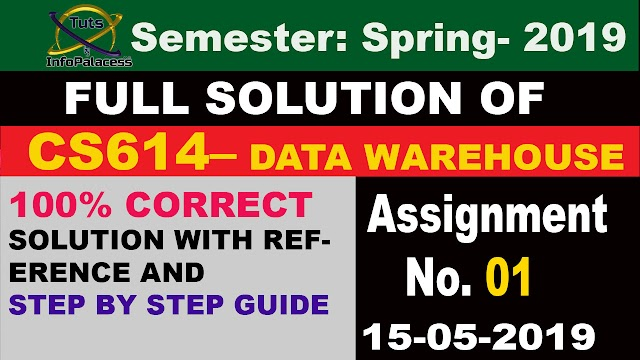 CS614 Assignment 1 Spring 2019 Solution Working on..