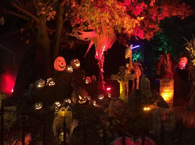 Creepy jack-o-lantern graveyard