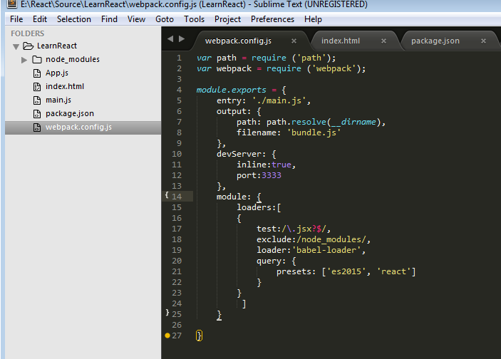 Dimensi TutupBotol: Setting Up React Environment Using NPM, Babel