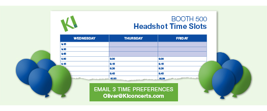 KIconcerts ACDA professional headshots time preferences