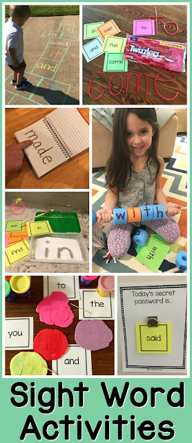 12+ Easy and Fun Sight Word Activities for Parents, Homeschoolers, and K-2 Teachers