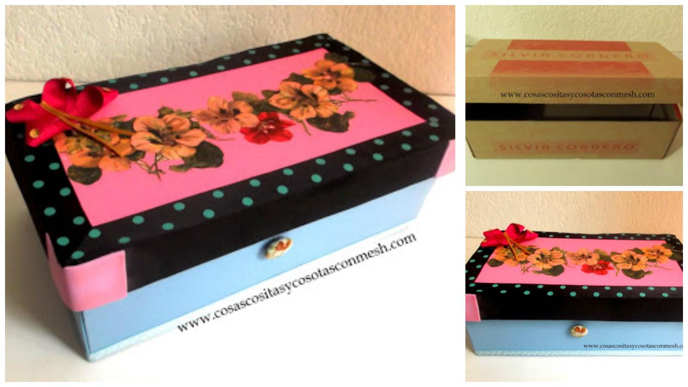 Como decorar una caja de zapatos cositasconmesh - Cajas para decorar ...