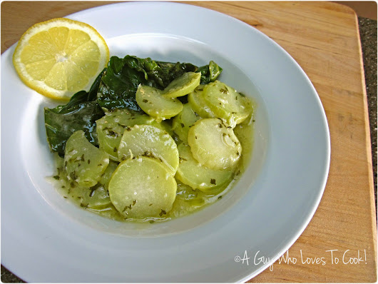 Garlic Lemon Kohlrabi