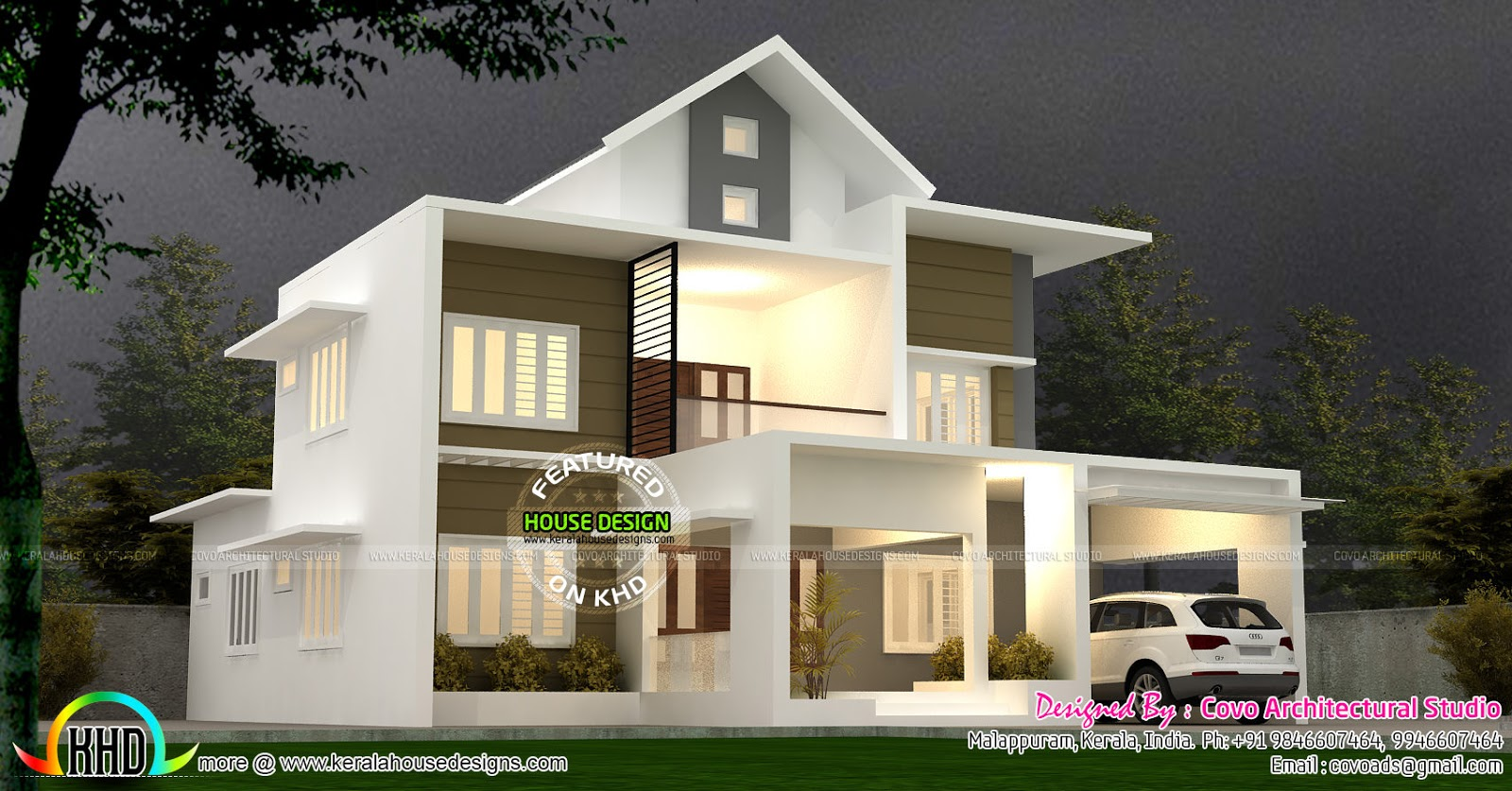 Modern Mix Roof Beautiful Home Kerala Home Design And