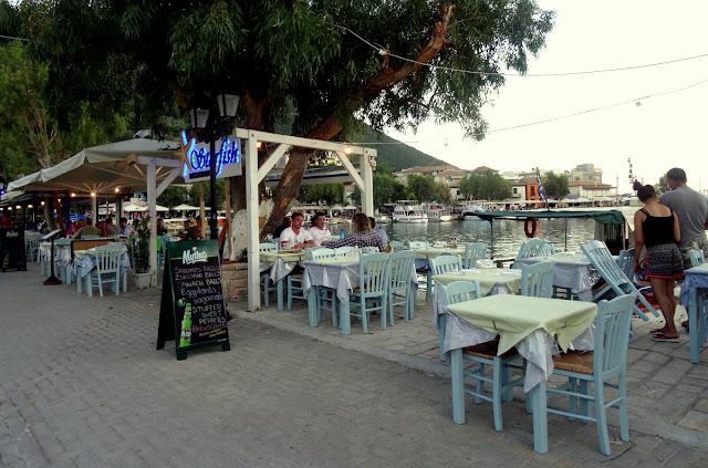 Outdoor cafe restaurants in Vasiliki