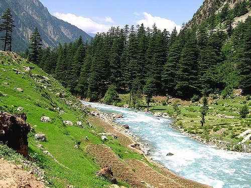 Swat River, on-way to Kalam, Swat Valley, Pakistan