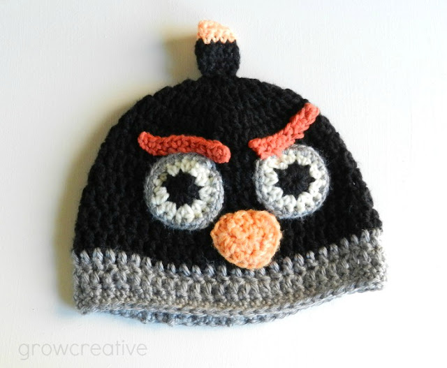 Black Angry Bids Hat