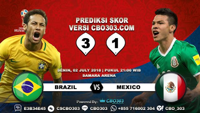 Prediksi Bola Piala Dunia 2018 Brazil VS Mexico 2 July 2018
