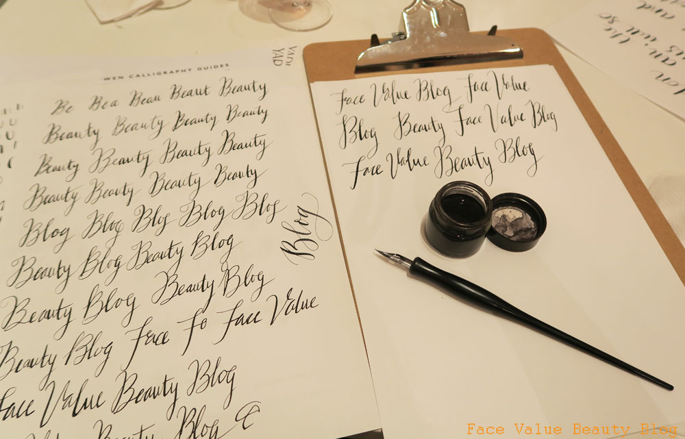 Face value beauty blog modern calligraphy meets the new Calligraphy classes near me