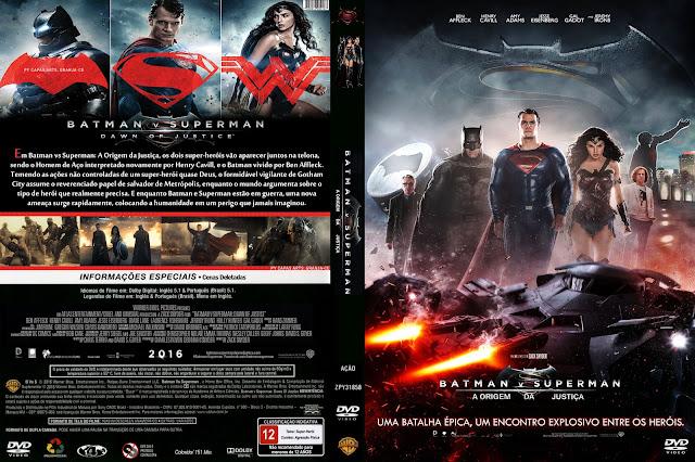 Capa DVD Batman VS Superman A Origem Da Justiça