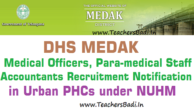 Medak Medical Officer,ANM,Staff Nurse,Pharmacist,Lab Technician,Accountant Posts 2016