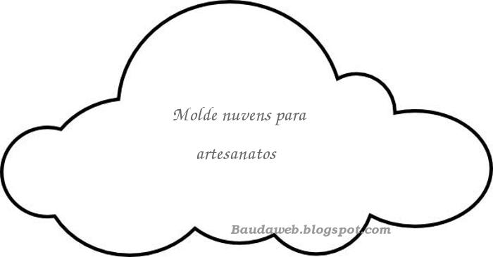 Baú Da Web Almofada Nuvem Com Molde