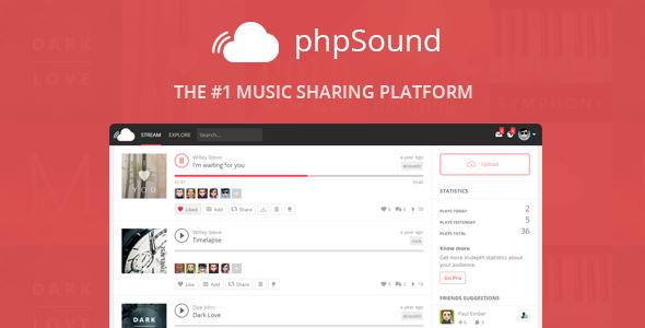 phpSound v4.5.0 - Music Sharing Platform