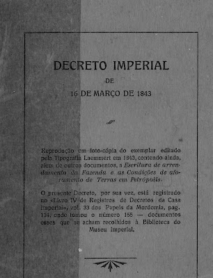 Capa do decreto-lei 155 de 1843