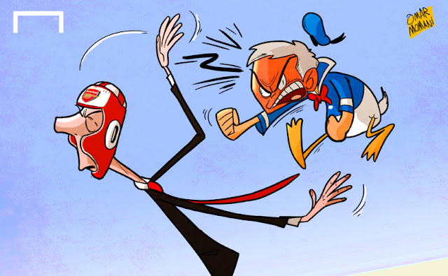 Mourinho and Wenger cartoon