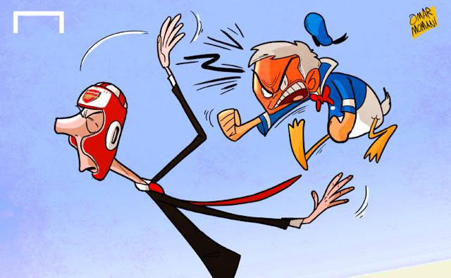 Mourinho and Wenger cartoon