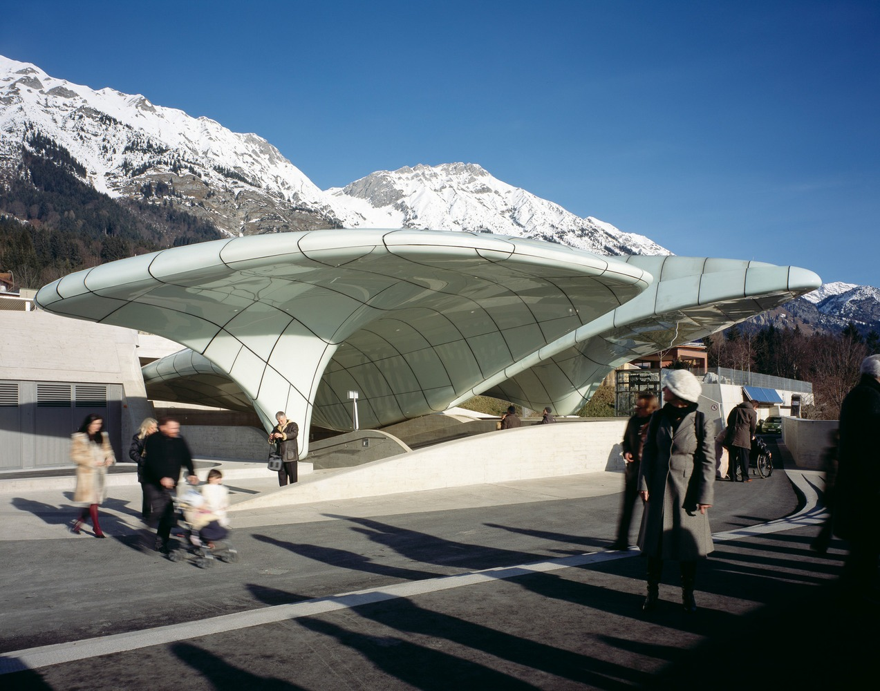 Hungerburgbahn Stations in Innsbruck, Austria.