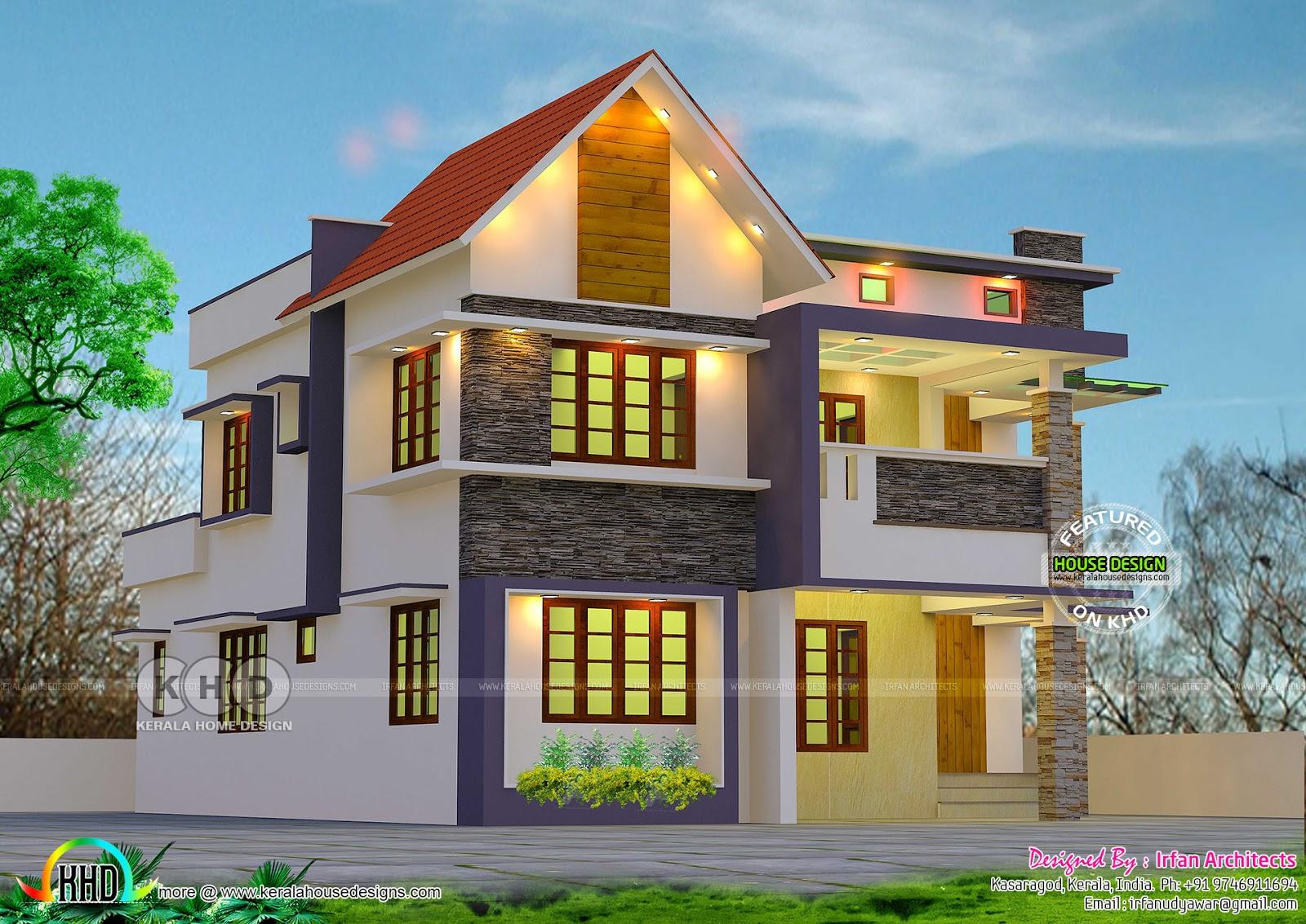 Cute Double Storied Kerala Home 2648 Sq Ft Kerala Home