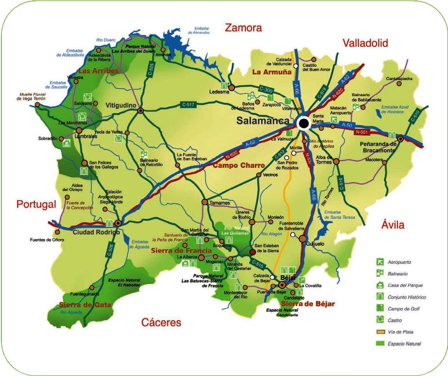Turismo Y Cultura En Las Arribes Del Duero Mapa De Los Recursos