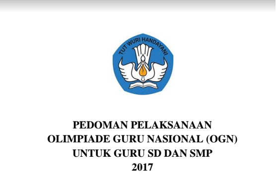 Juknis Olimpiade Guru Nasional 2017