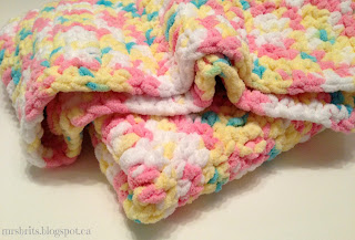 MrsBrits: Sweet and Chunky Baby Afghan {Crochet Pattern}