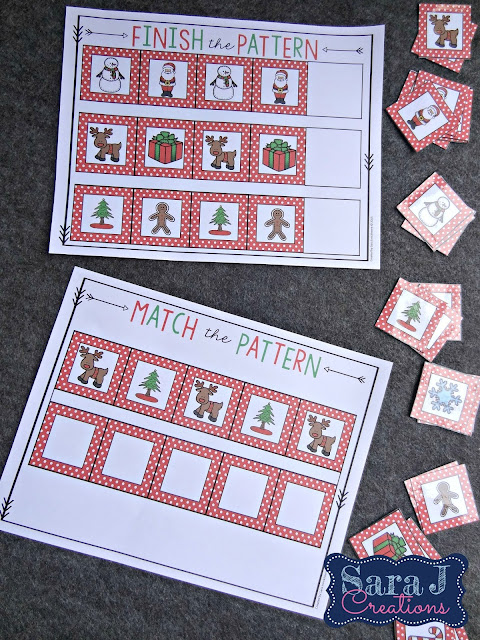 Preschool activities with a Christmas theme.