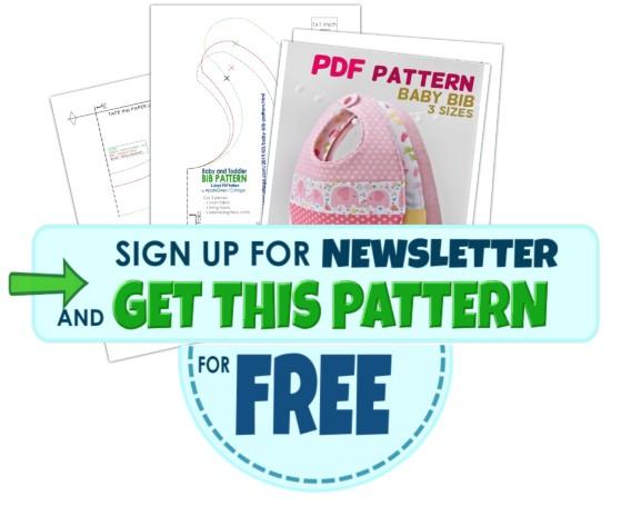 baby bib pattern - get free pattern here
