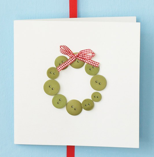 Handmade Christmas Buttons Card