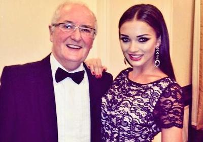 Amy Jackson with her father
