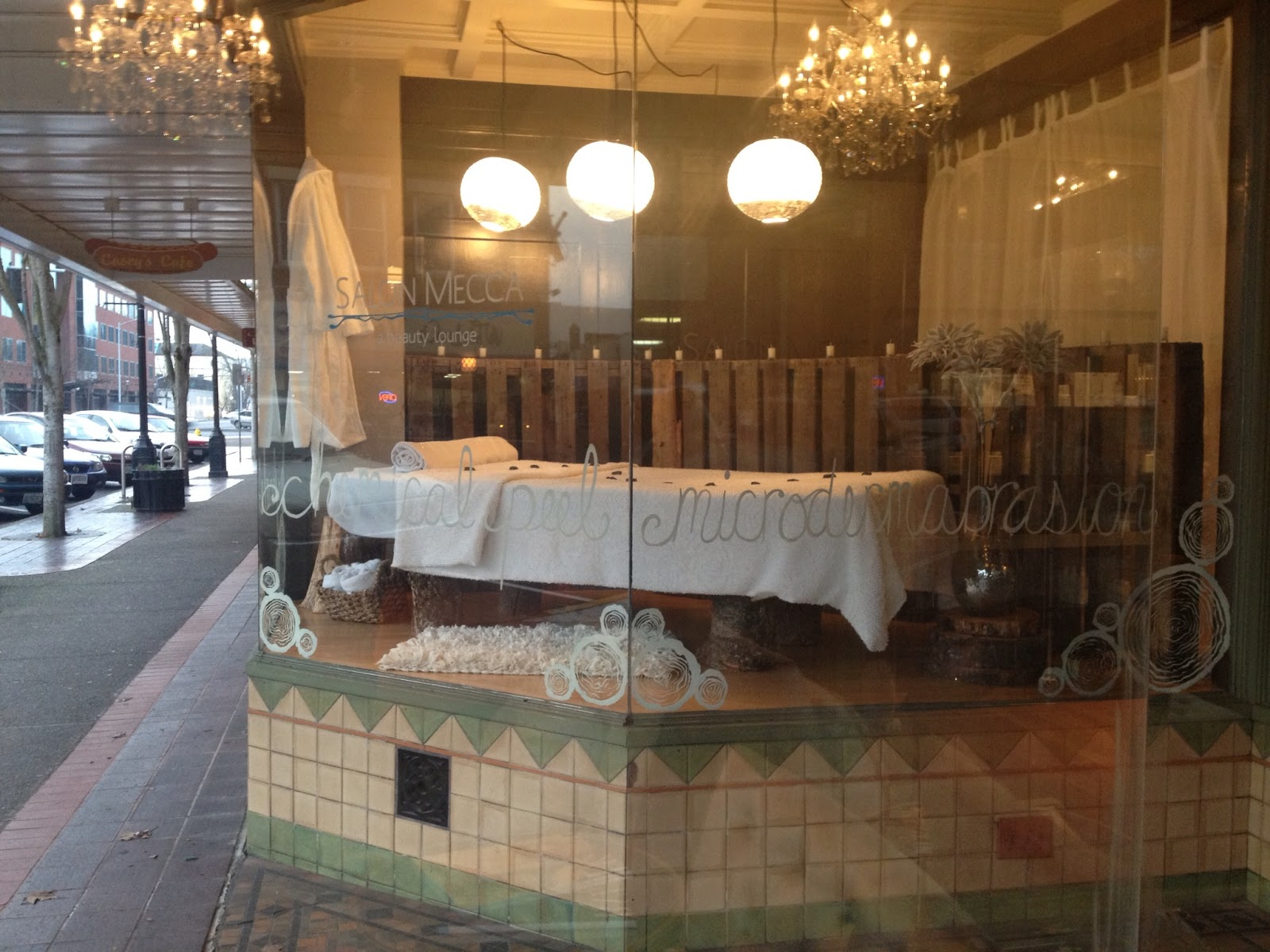 The Farrier's Daughter: Rustic Spa Inspired Window Display
