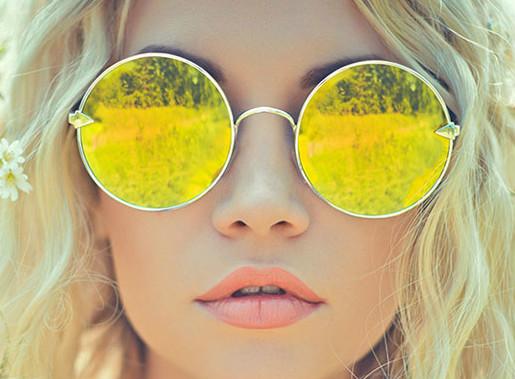 oculos redondo espelhado