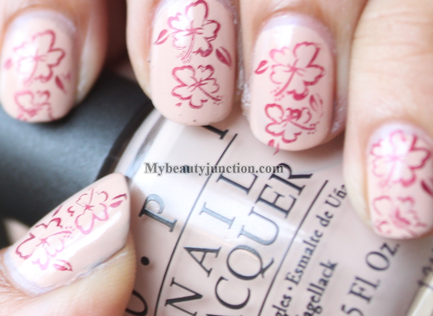 Stamping nail art tutorial II - with Konad image plate and O.P.I. ...
