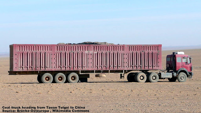 Coal Truck heading from Tavan Tolgoi to China