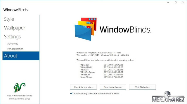 Stardock WindowBlinds 10.65 imagenes