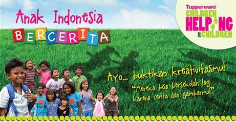 Mengarang dan Menggambar Tupperware childrend Helping Children 2012