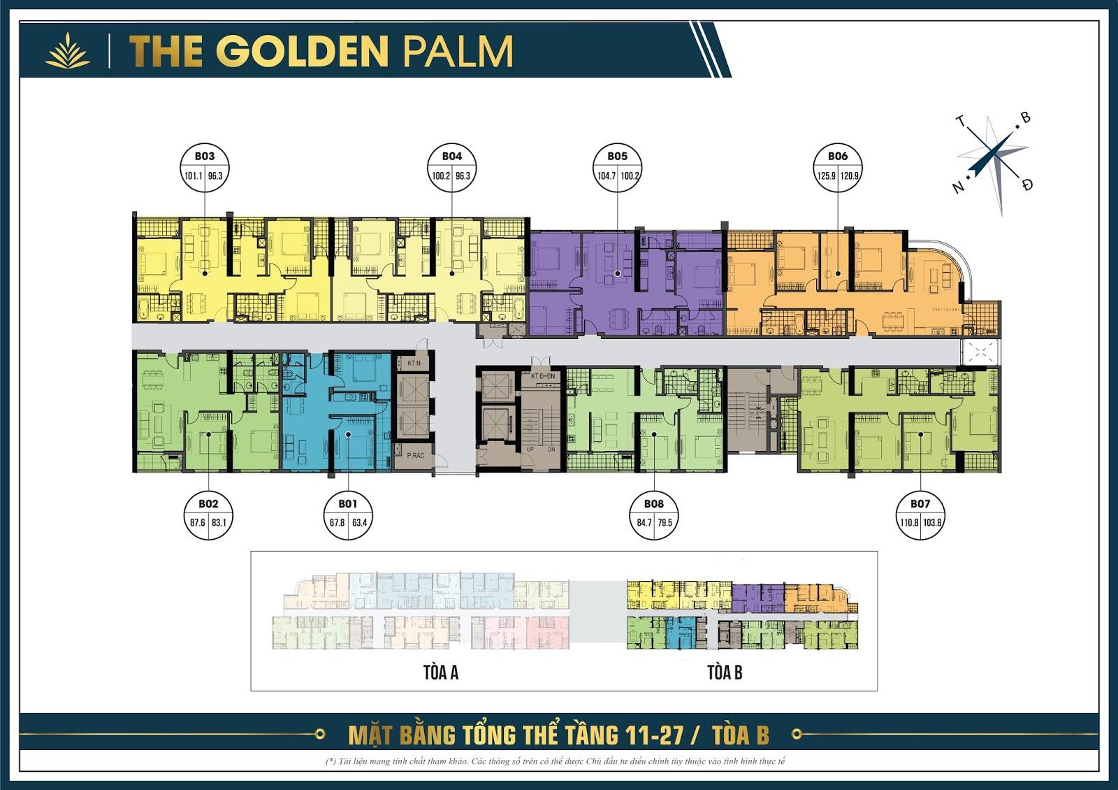Thiết Kế Căn Hộ The Golden Palm