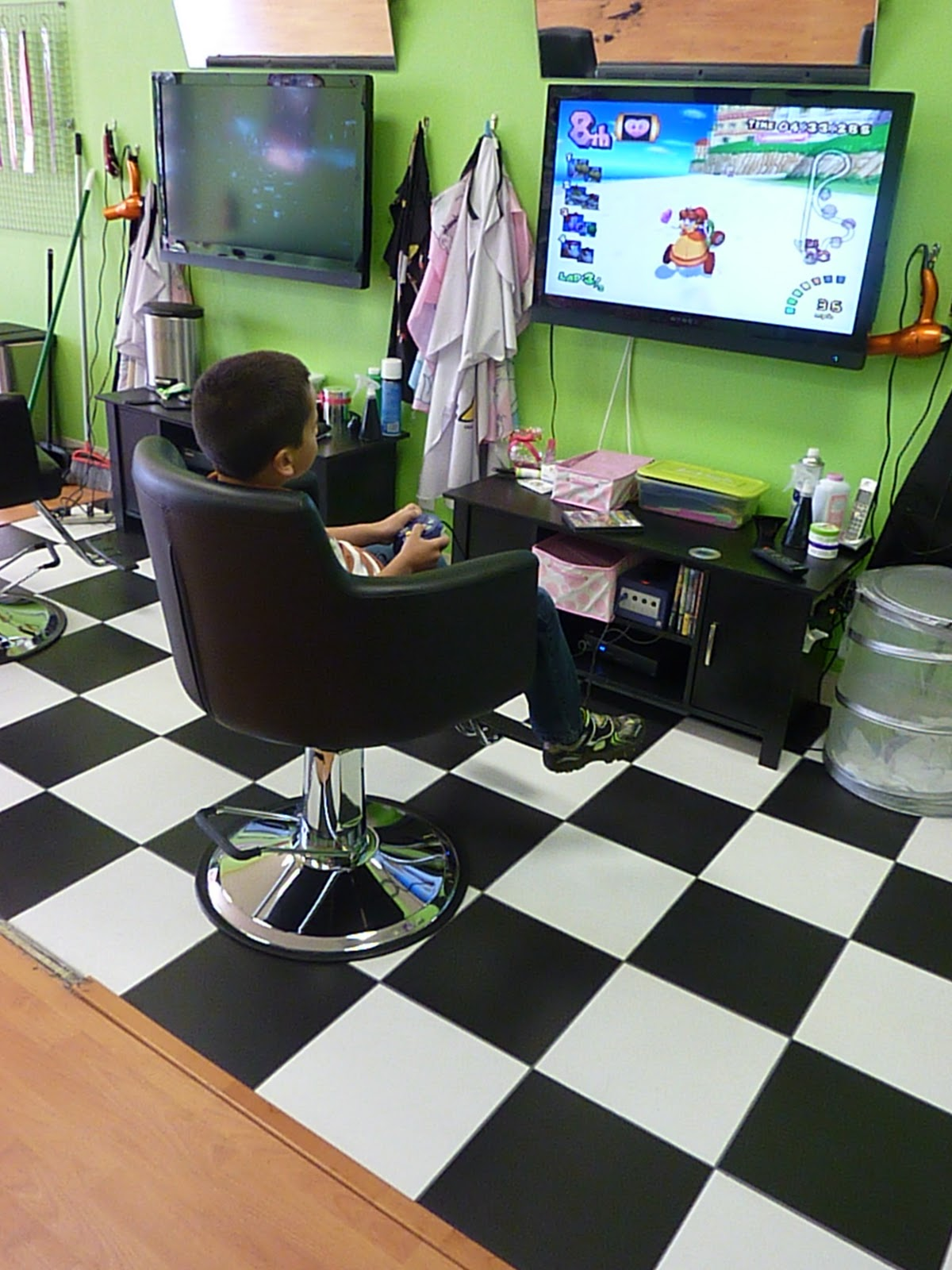 Kids Car Barber Chair Best After Neck Surgery Montebello Mom Sharkey 39s Cuts For Not Just A