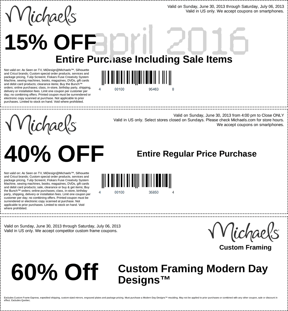 Current Michaels Coupons Framing Custom | www.topsimages.com