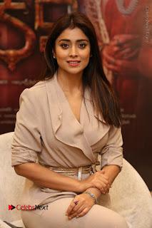 Actress Shriya Saran Stills in Stylish Dress at Gautamiputra Satakarni Team Press Meet  0116.JPG