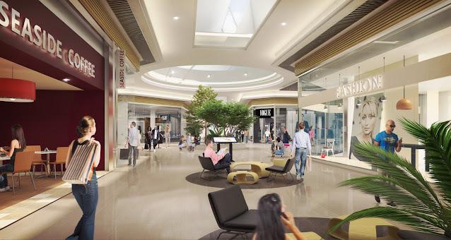 Perspective 3D de la galerie commerciale