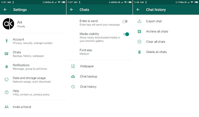 Cara Membersihkan Sampah di WhatsApp