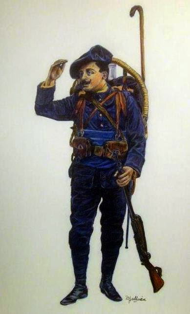 French Alpine Soldier