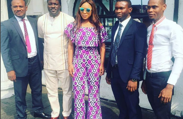 Tonto Dikeh Slays In Anakara Print Dress In Warri