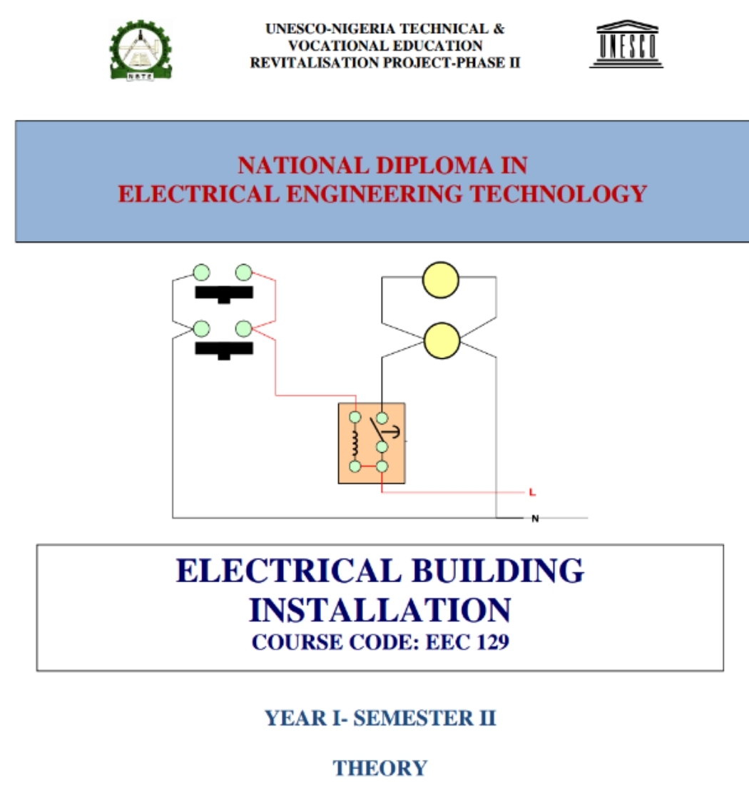 HARRY\'S BLOG: EEC 245 ELECTRICAL INSTALLATION OF A BUILDING (2ND ...