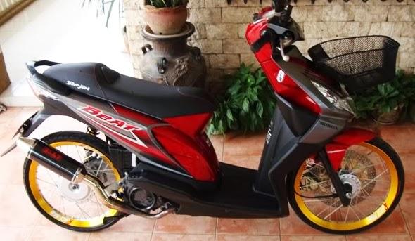 Modifikasi Honda BeAT Karburator Dengan Velg Ring 17 Jari