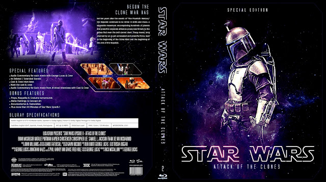 Star Wars: Episode II - Attack of the Clones Bluray Cover