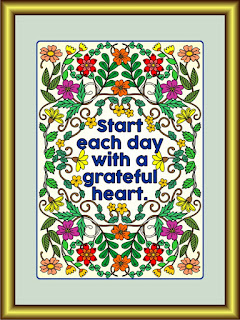 start each day with a grateful heart framed